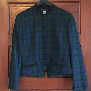 Vintage plaid wool Pendelton blazer made in the us